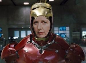 Thatcher as Iron Man