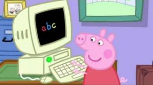 Peppa Pig on the computer