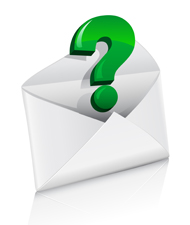 Email with question mark