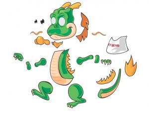Dragon by the DragonBones team